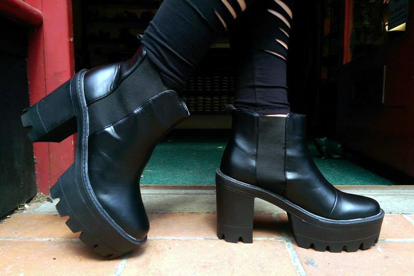 2014_Aug 11_Funky platform ankle boots