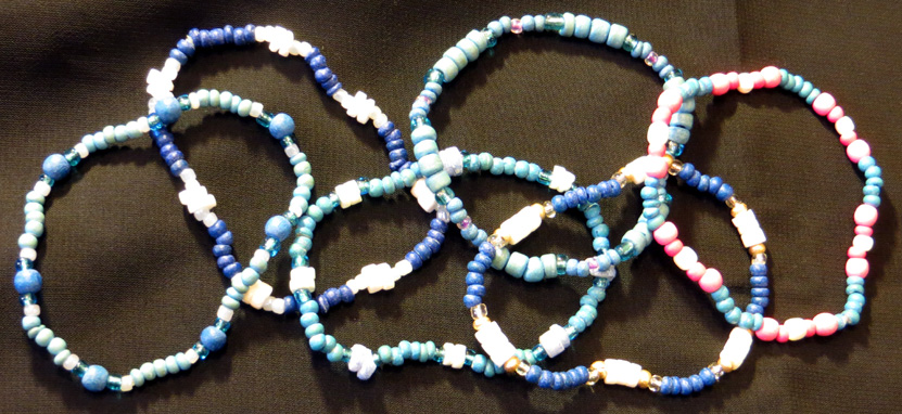 2015_Aug 02_Blue Bracelets