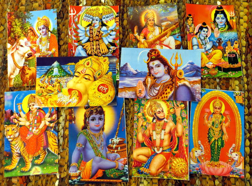 2015_Nov 15_Hindu Gods Postcards