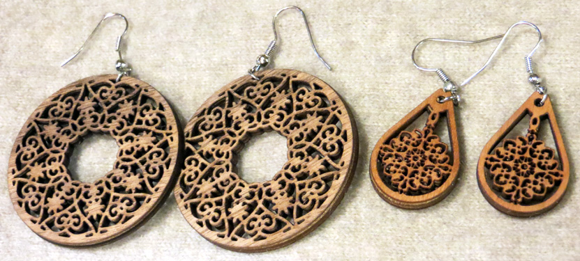 2016_Apr 16_Wooden Earrings