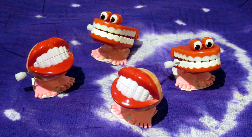 Wind-Up Funny Teeth (£1.50 each) - Chattering, bouncing, snapping and yapping.