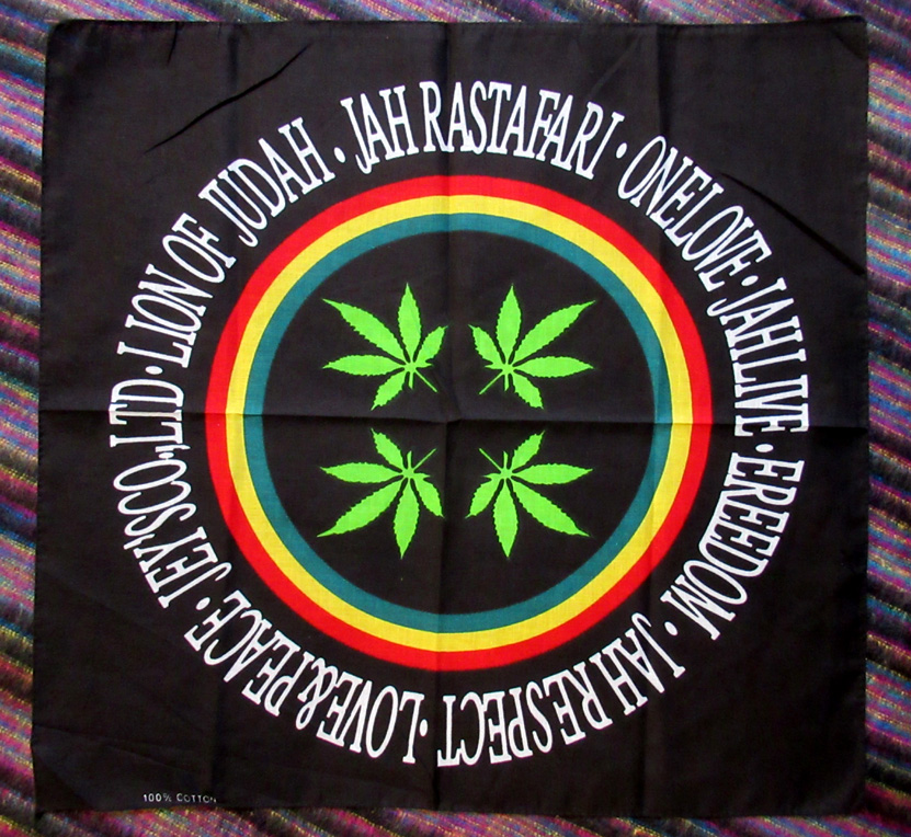 One Love Cotton Bandana (£1.50) - 54 x 54 cm.