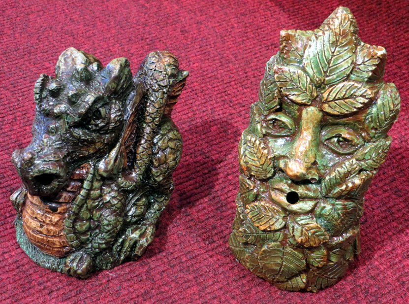 Dragon and Green Man cone