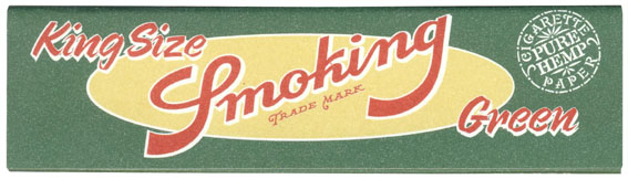 Smoking Green King Size Papers (50p) - 33 leaves of wide pure hemp papers per pack; made in Barcelona, Spain.