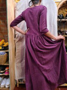Pleated Flowy Dress