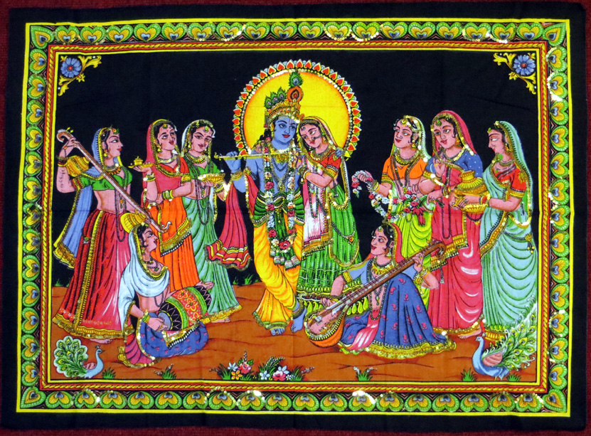 2015_May 03_Deity 06_Radha, Krishna with friends