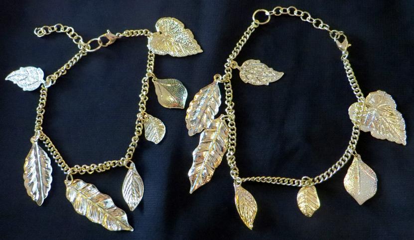 2016_Apr 10_Gold Leaves Bracelet