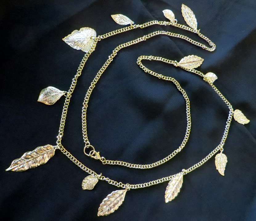 2016_Apr 10_Gold Leaves Necklace